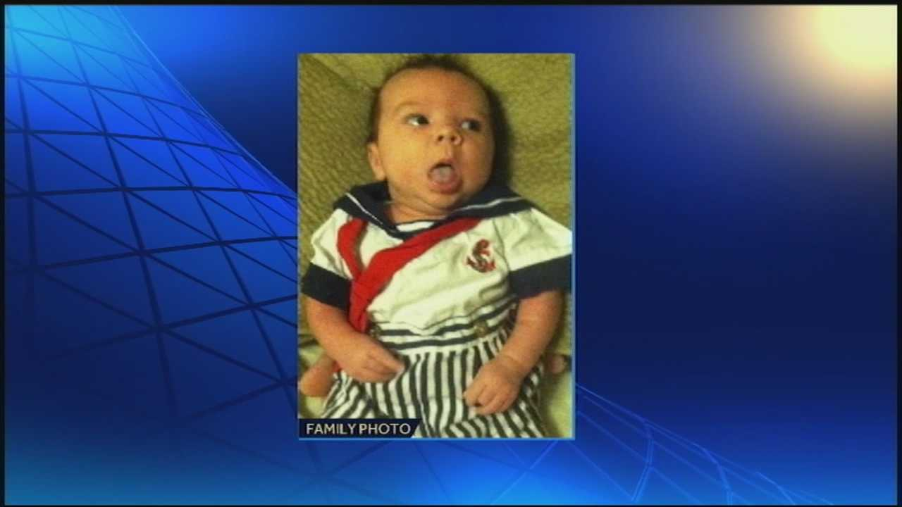 A father is charged with murder in the death of his baby.