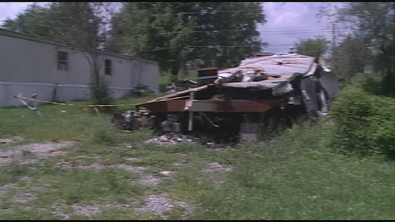 David Jewett,19, is accused of setting a mobile home on fire while a family was inside.