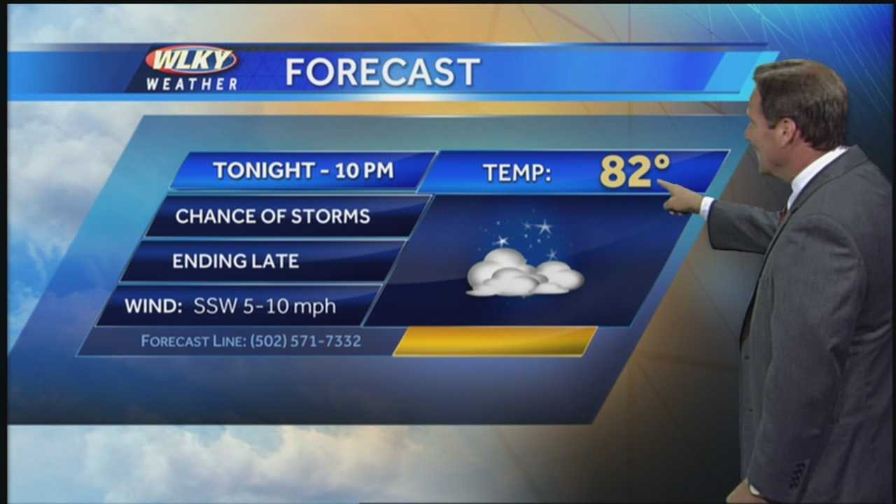 WLKY's Jay Cardosi has the Tuesday evening forecast.