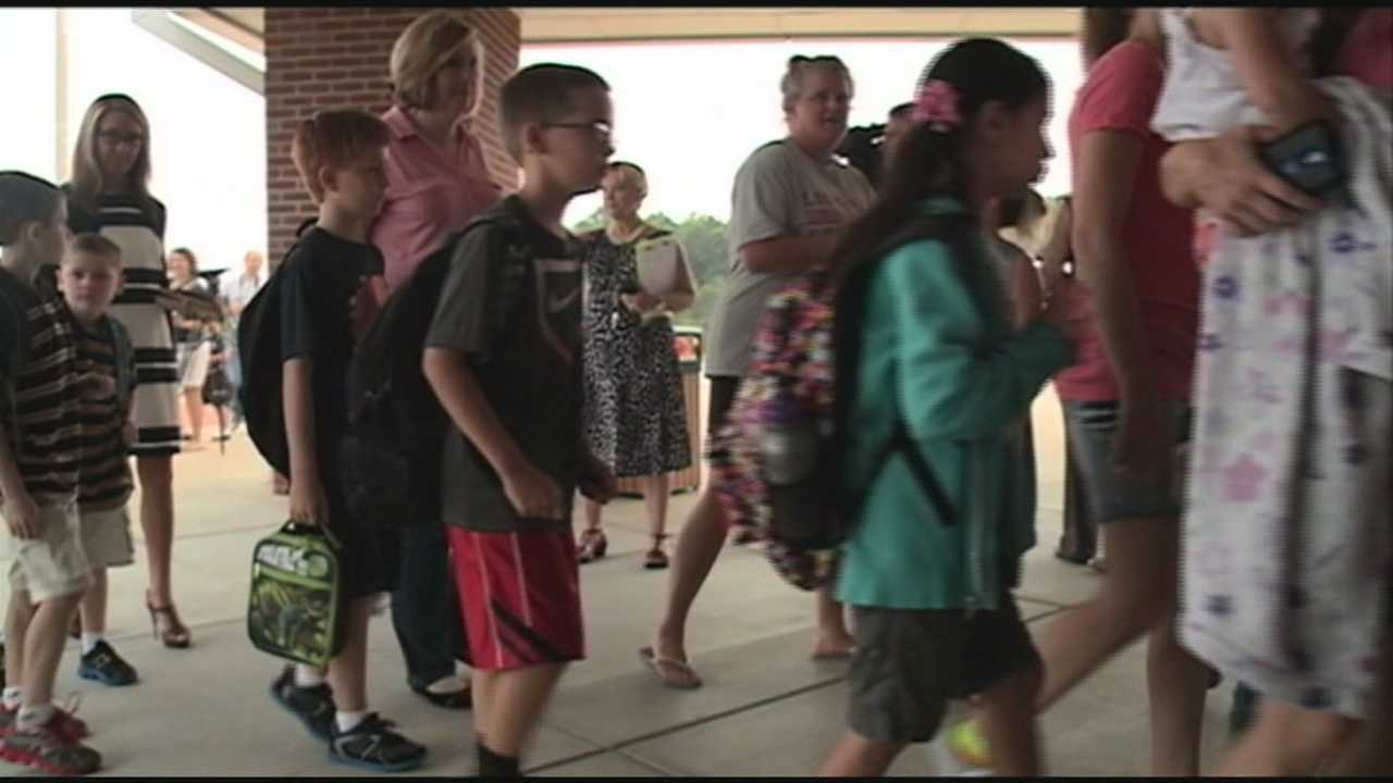 Students in Oldham County headed back to class Wednesday.