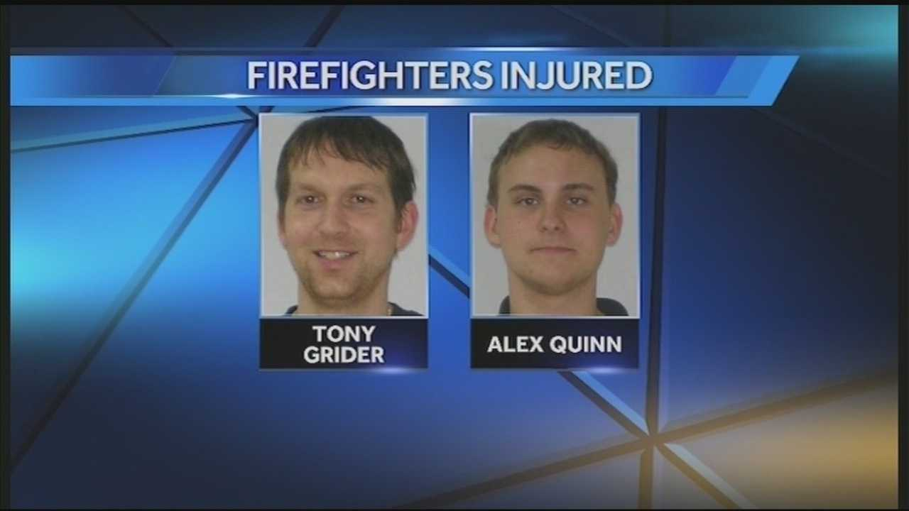 Two of the four firefighters injured while helping Campbellsville University's band with the ALS Ice Bucket Challenge continue to recover.