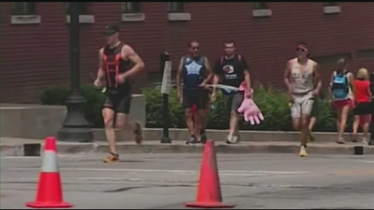 A Louisville group is running Sunday's Ironman triathlon to raise money to benefit Frazier Rehab patients.