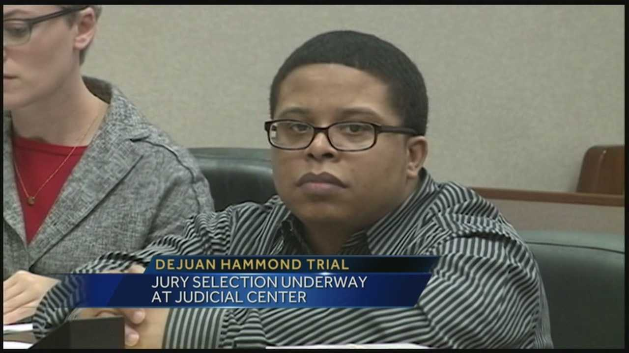 Jury selection continues in the murder trial of Dejuan Hammond.