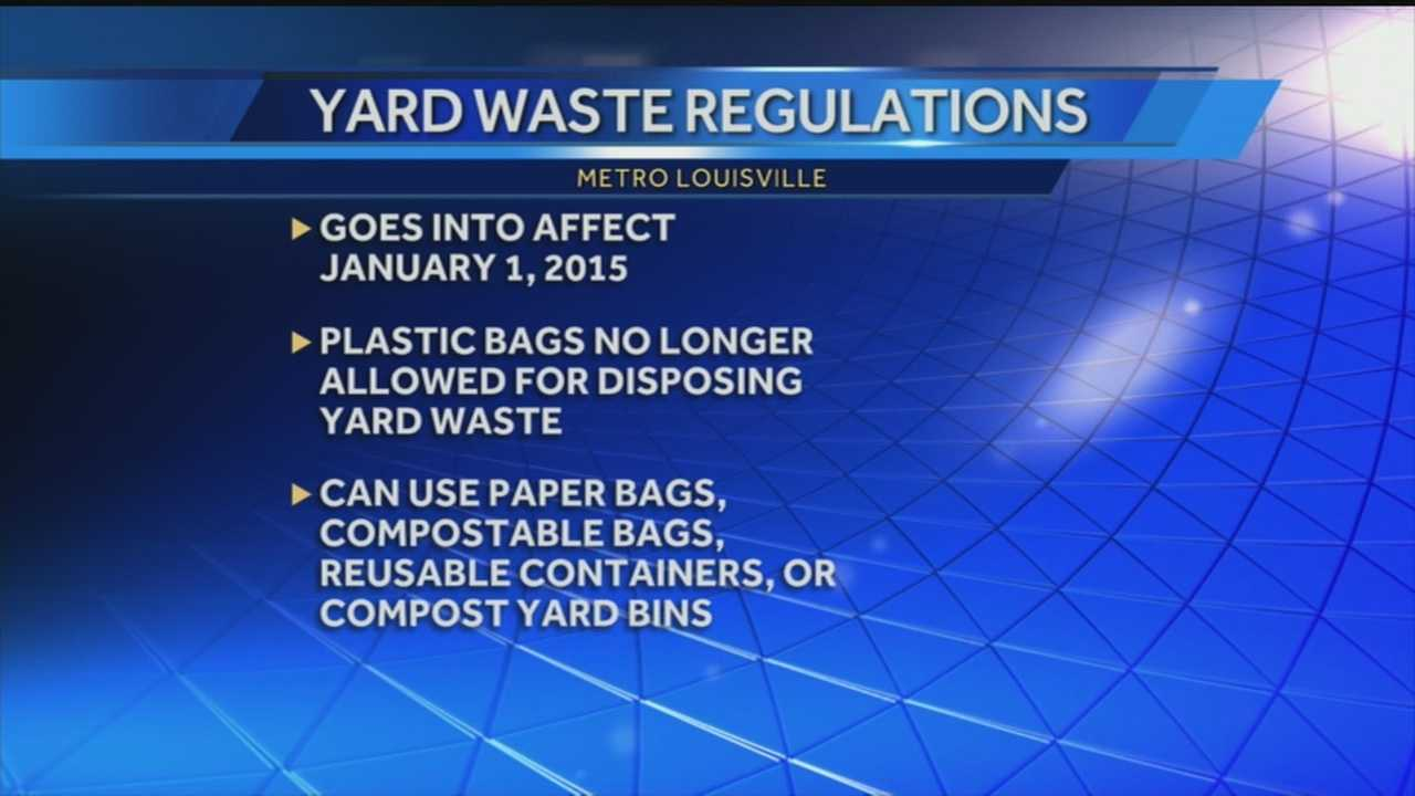 New yard waste regulations take effect in January