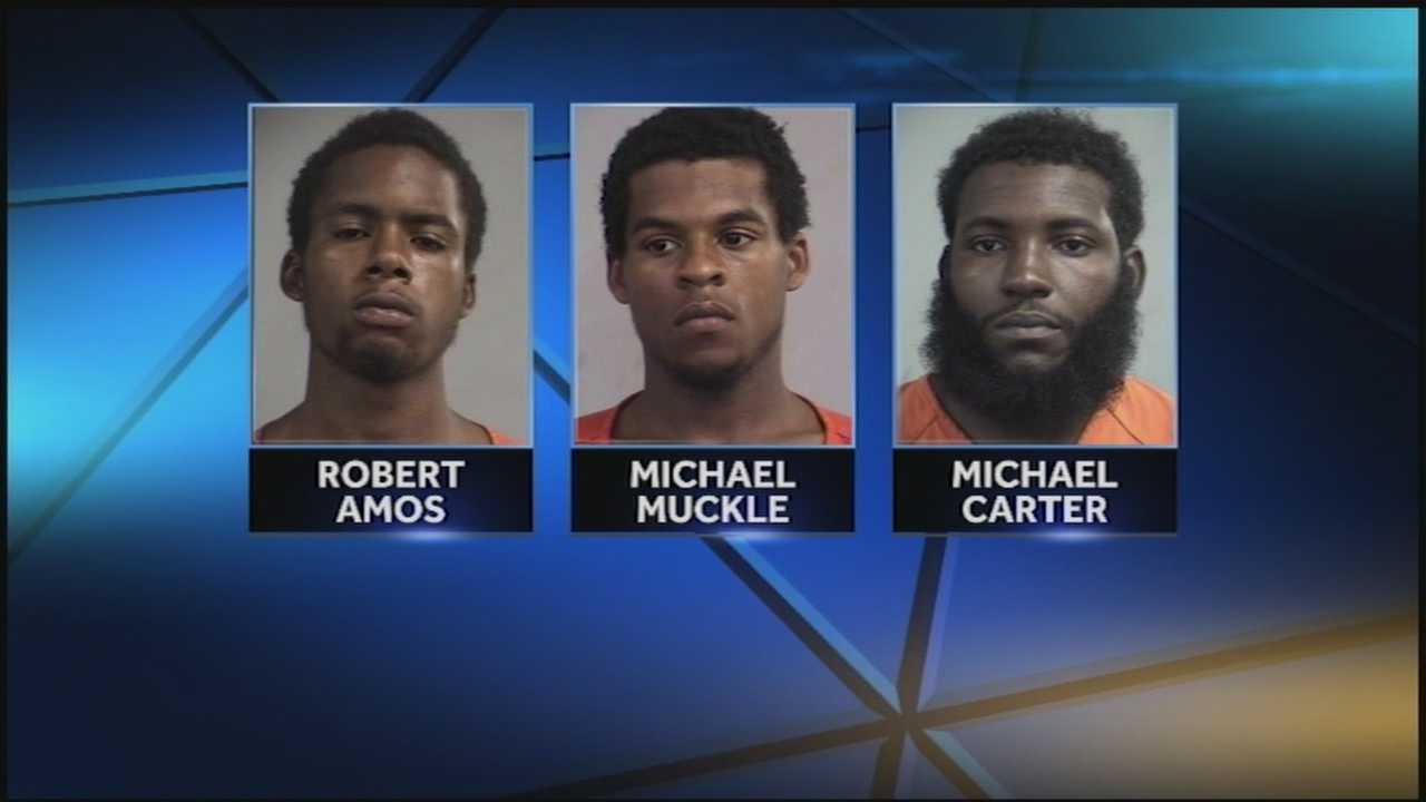 Three men are accused in multiple smash-and-grab burglaries.