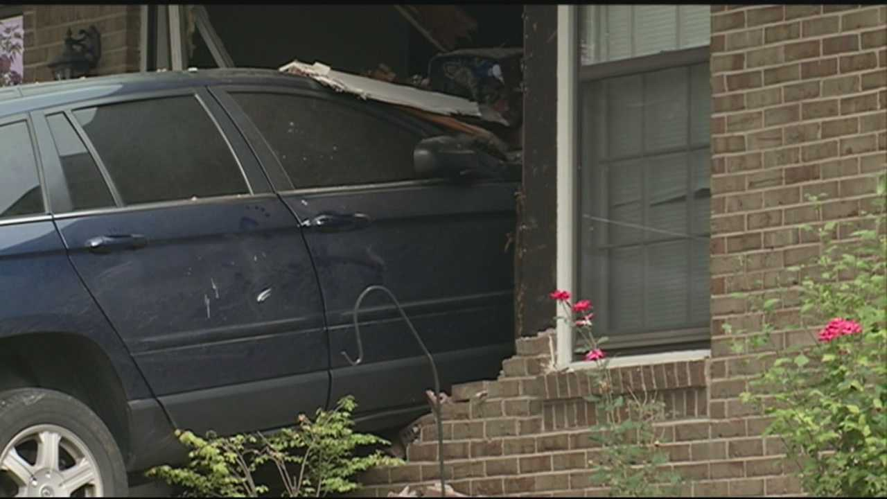 A driver suffered a medical emergency and crashed into a home.