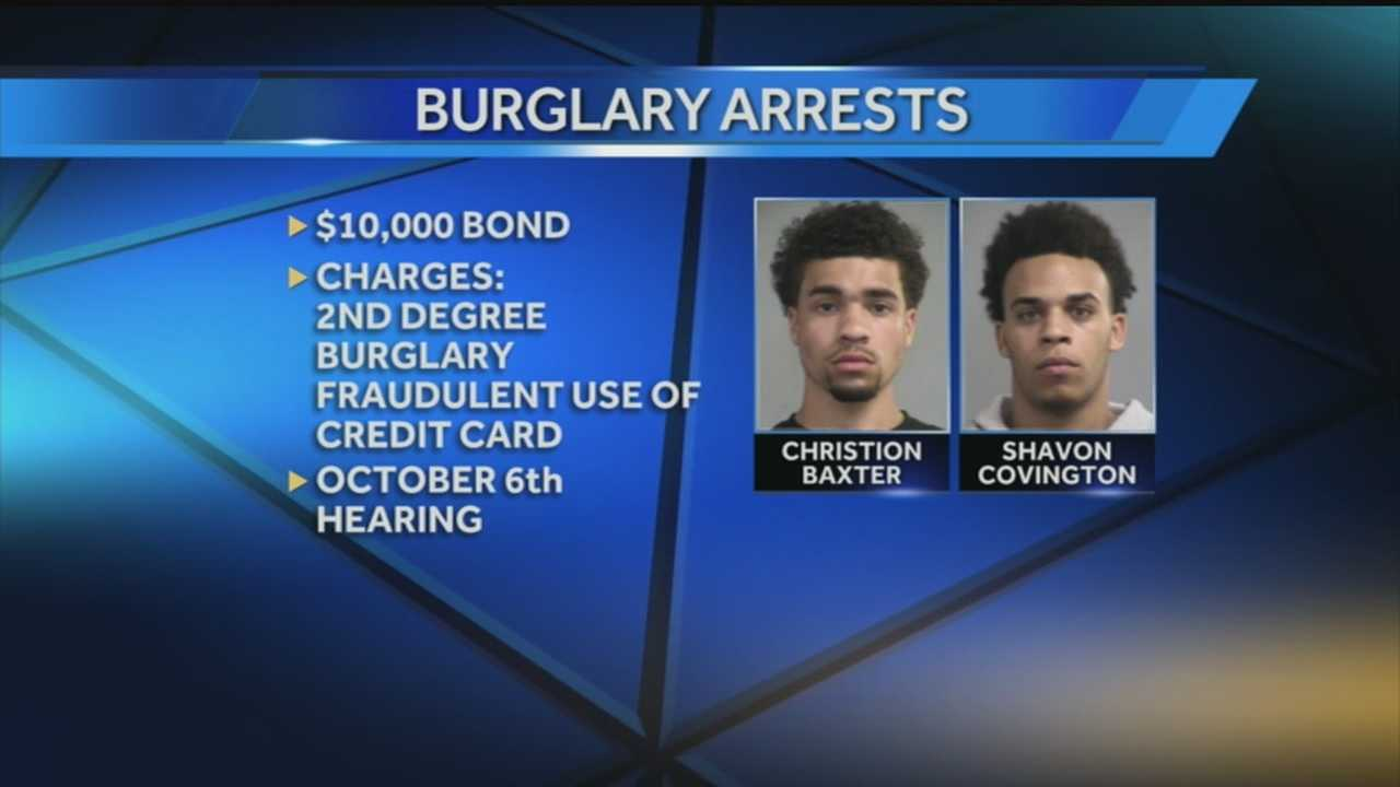Two men have been charged in connection with a string of burglaries that happened while the victims were home.