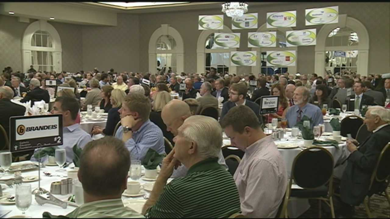 Ahead of one of the Trinity-St. X football game this weekend, the teams held their annual pregame luncheon Tuesday.