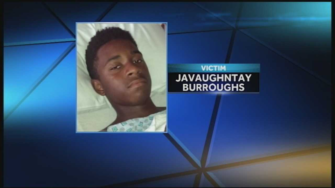 A teenager is recovering after being shot at school.