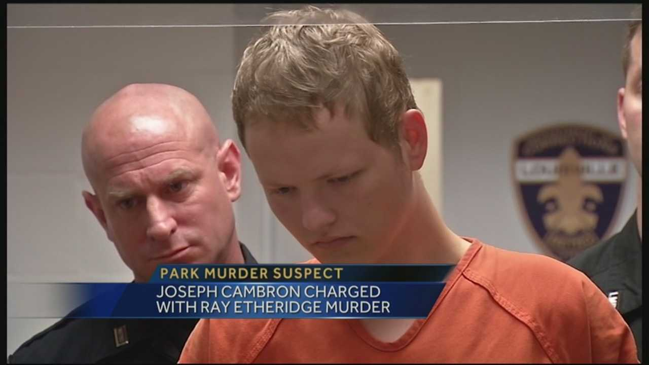Joseph Cambron, 21, is charged with murdering Ray Etheridge, 12, at Cherokee Park.