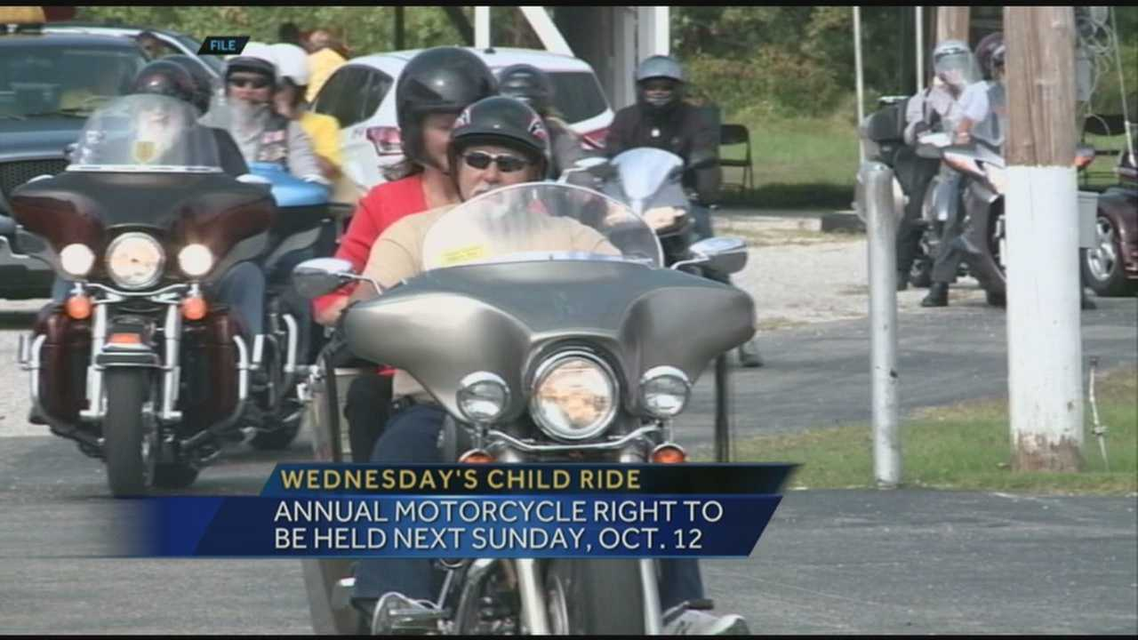 The 12th annual Wednesday's Child Knights of Columbus Ride will be held Sunday, October 12.
