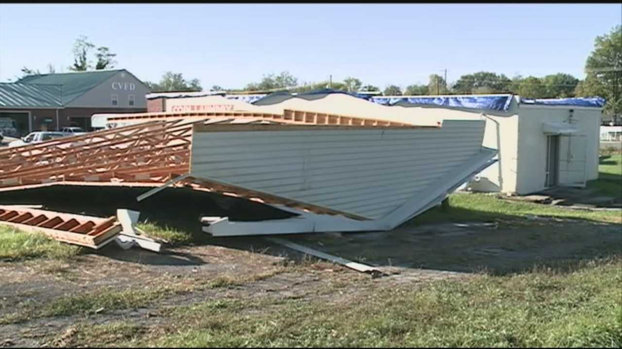 A Charlestown business owner is assessing the damage after a storm.