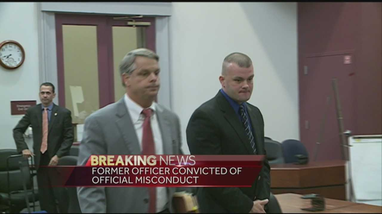 A former Oldham County police officer was found guilty of official misconduct.