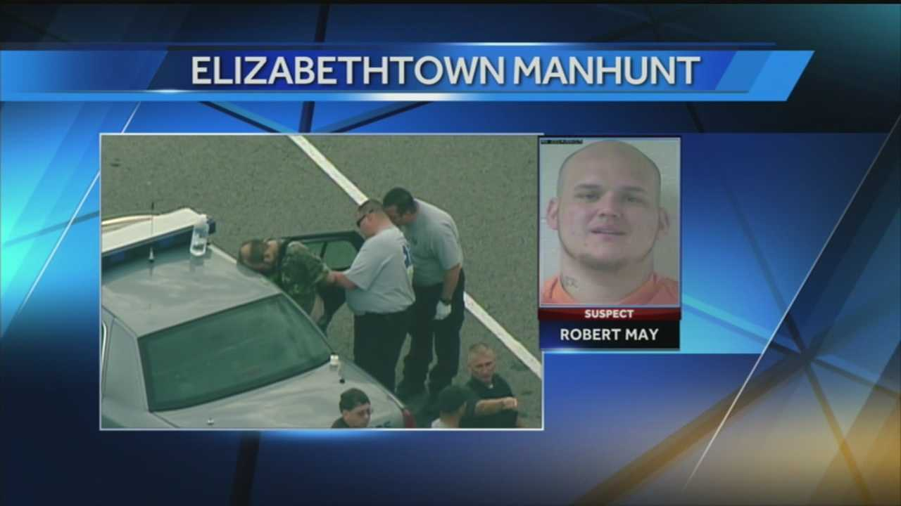 An Elizabethtown man is under arrest, accused of leading police on a dangerous chase and then forcing his way into a home.