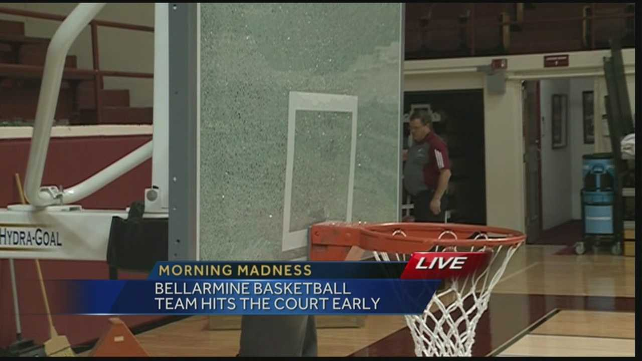 The Bellarmine University basketball team held their first practice on Wednesday.