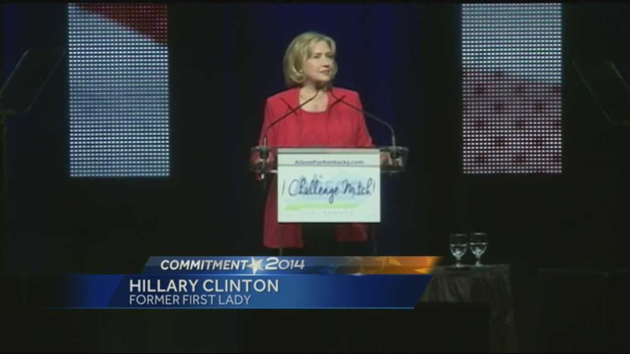 Hillary Clinton comes to Louisville in support of Alison Lundergan Grimes