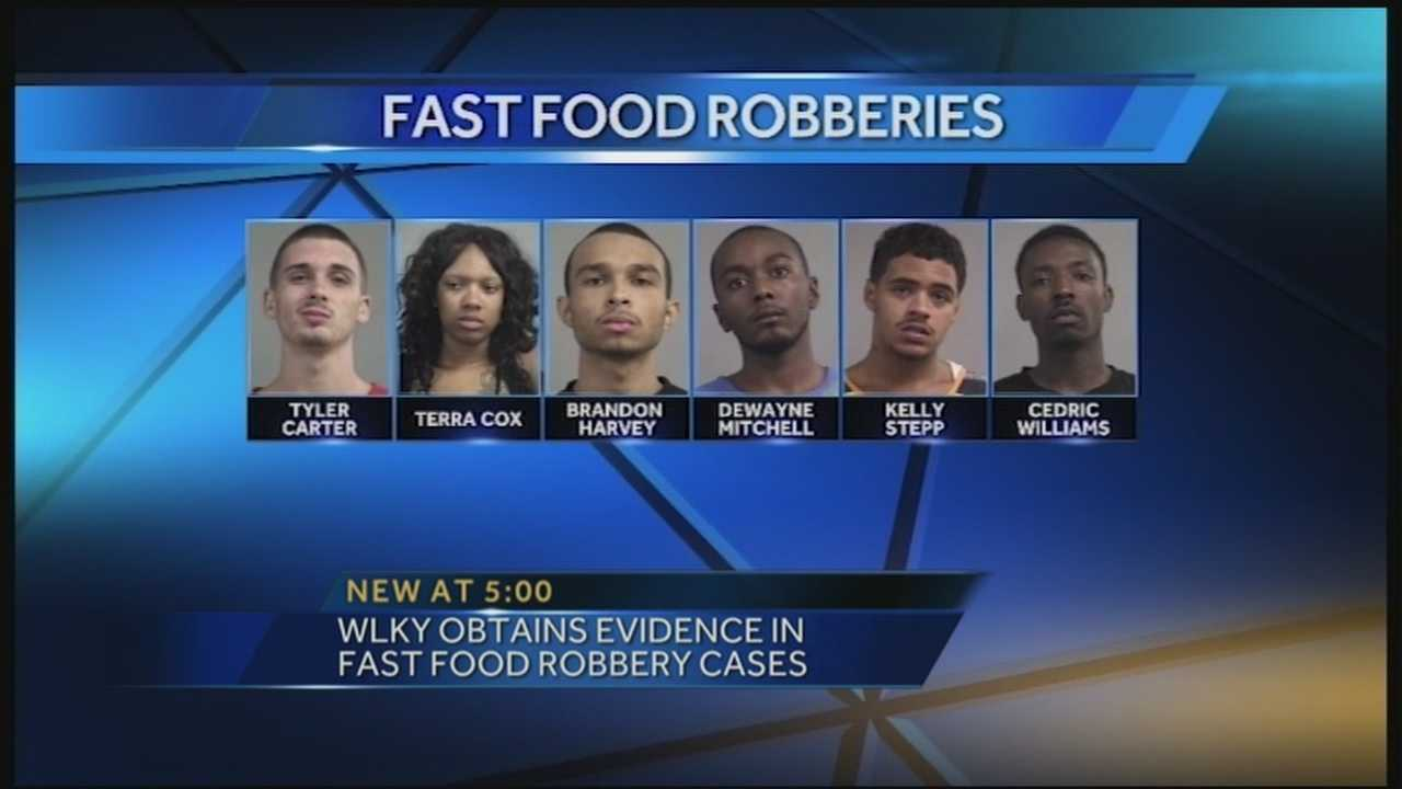 WLKY has obtained evidence in multiple fast-food robberies