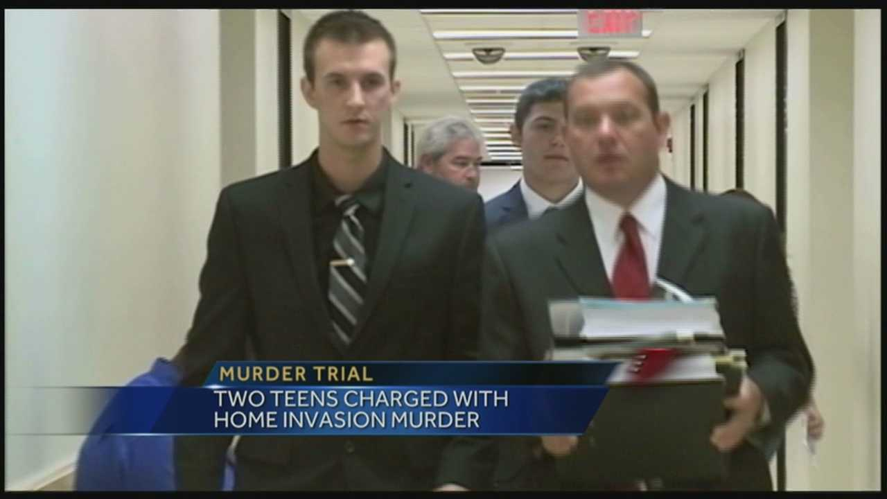 Two southern Indiana men charged with murder after a botched home invasion.