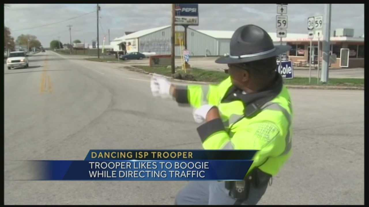 One Indiana State trooper is having some fun while on the job.