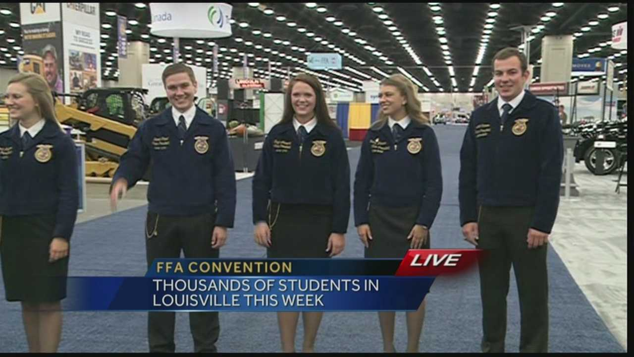 Thousands of students will be in Louisville through the weekend for the FFA convention