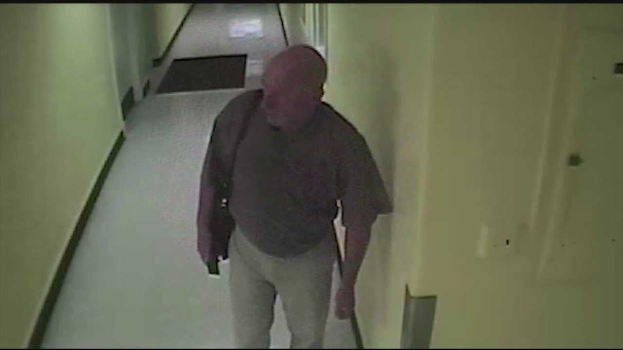 Police are looking for a man caught on camera stealing from Kosair Charities.