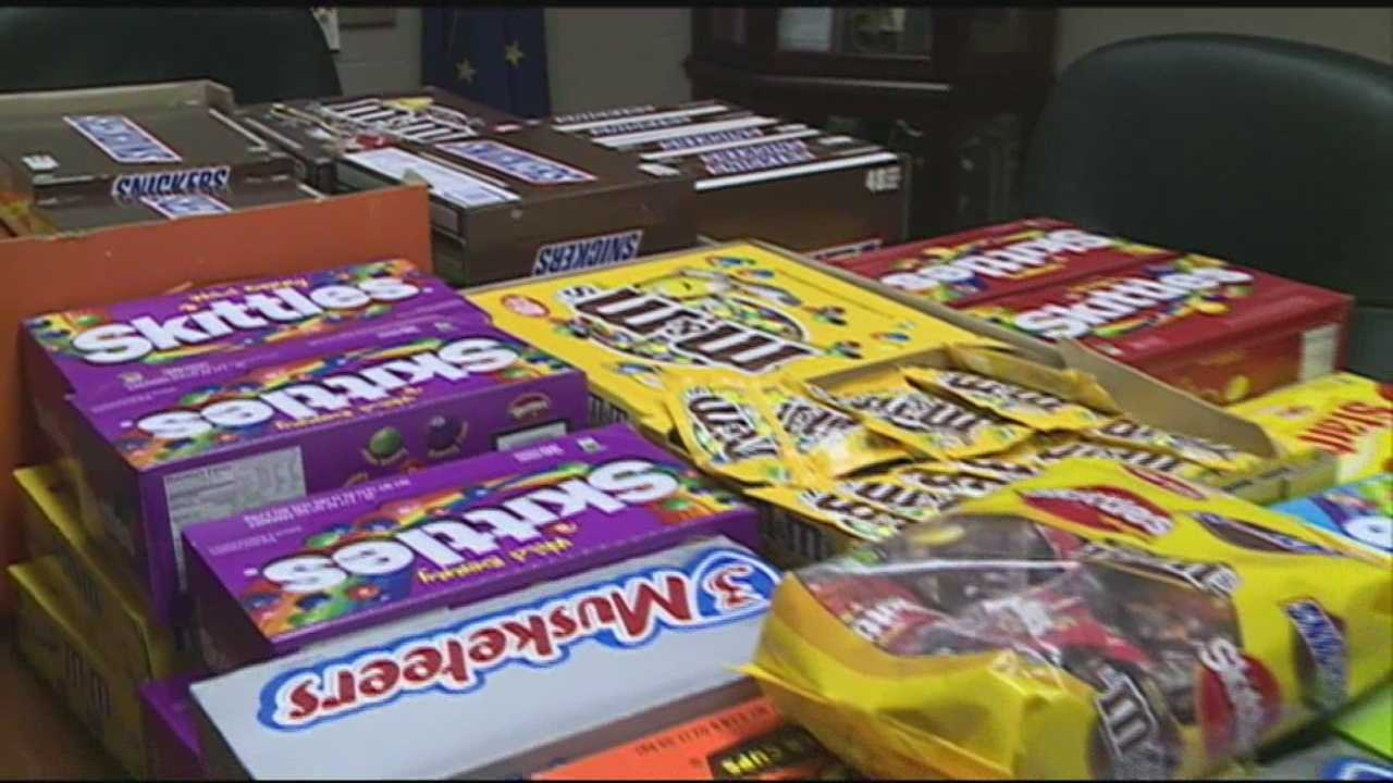 Hundreds of dollars worth of candy intended for children was stolen.