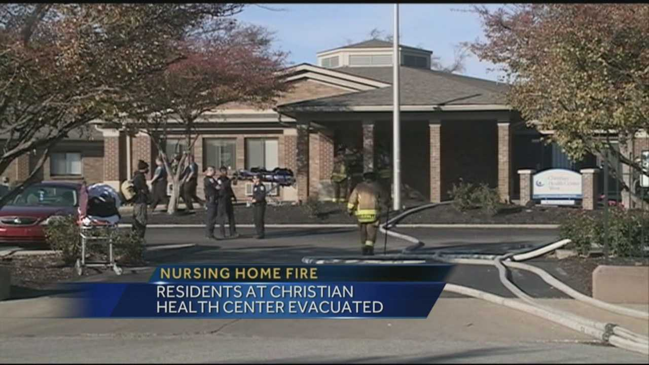 Nursing home residents were evacuated after the building caught fire.