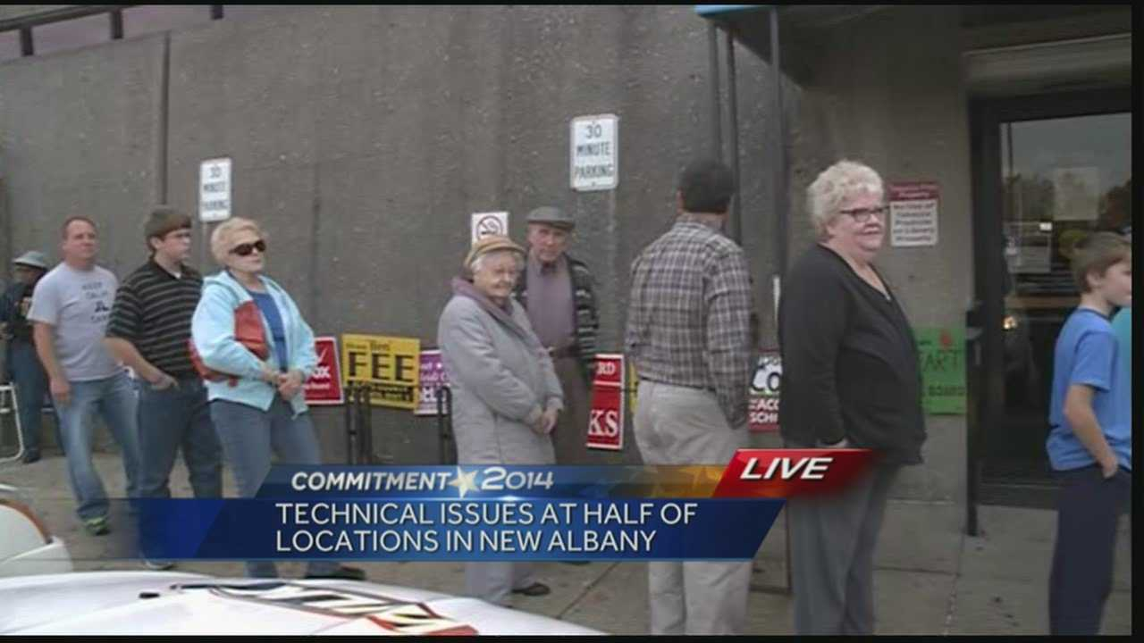 A technical issue caused long lines for some voters in Floyd County.