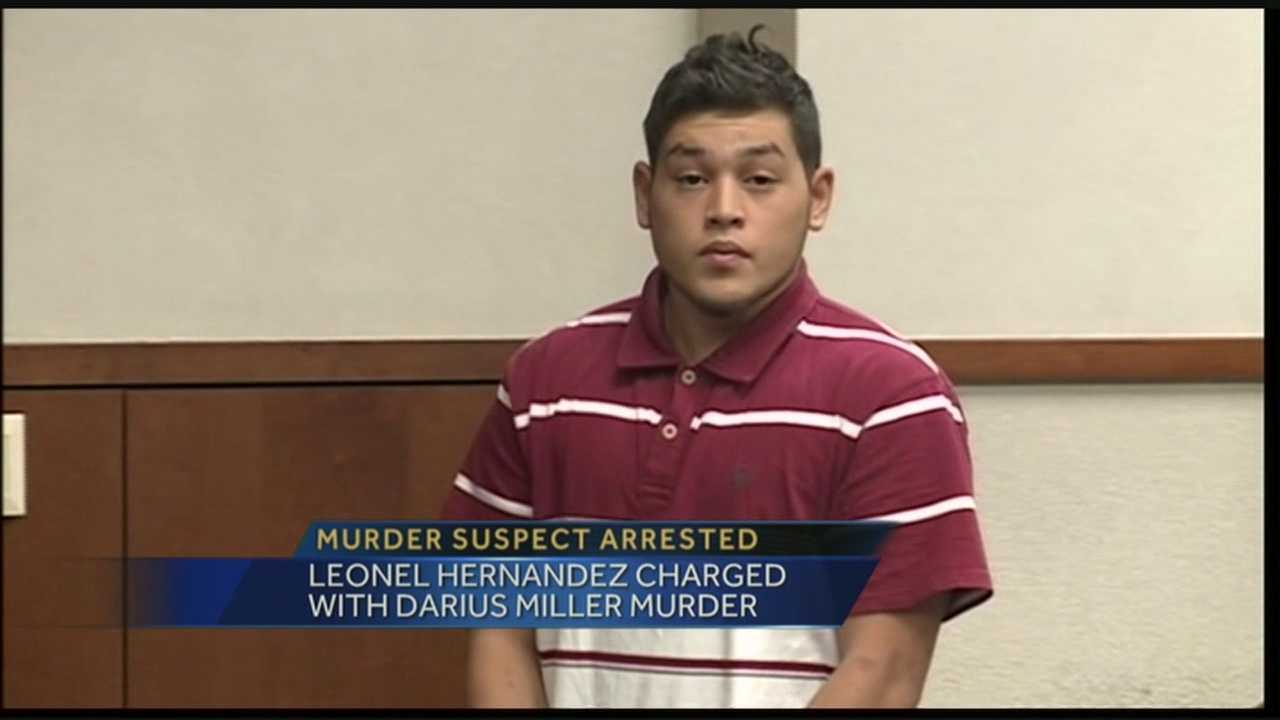 Leonel Hernandez is charged in connection with the murder of Darius Miller.