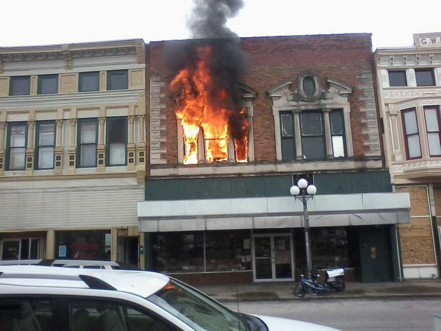 A fire was reported at 24 Fifth Street at Hatton's Carpet, in North Vernon around 10 a.m. Wednesday, officials said.
