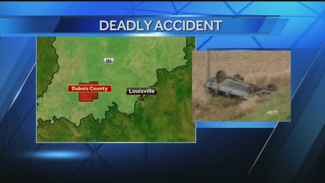 A woman dies in a single car accident in Dubois County