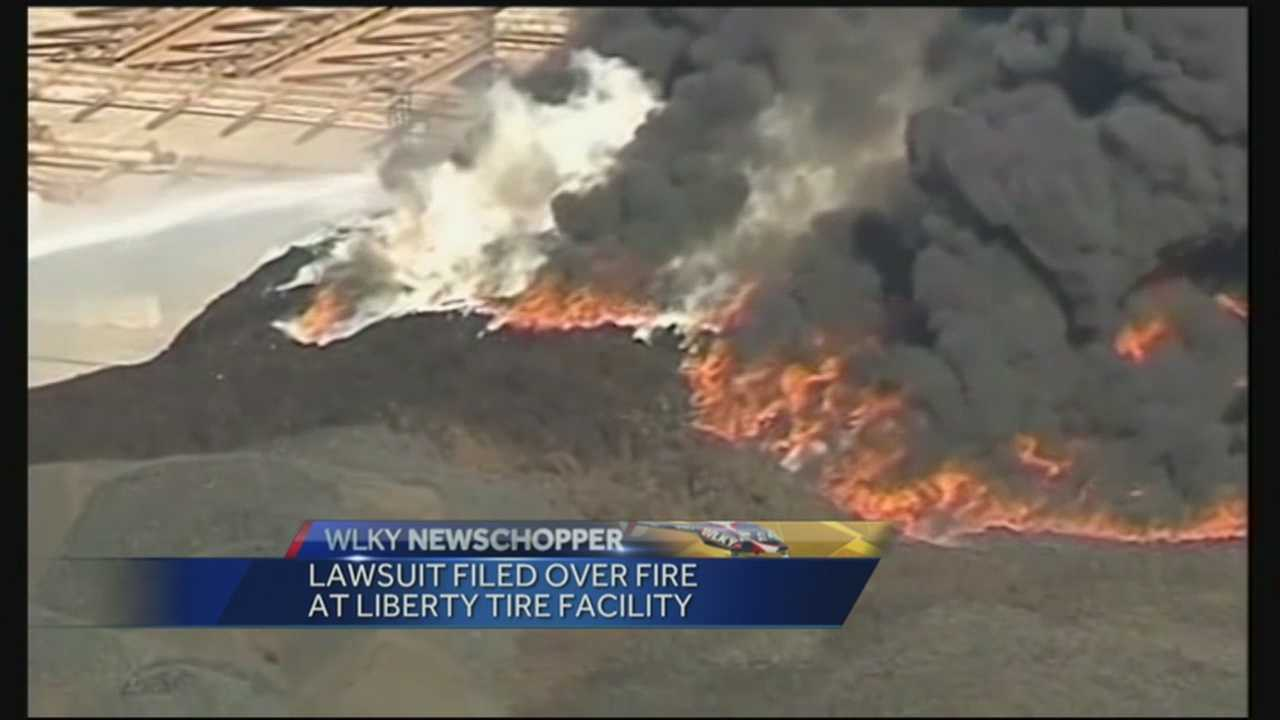 A lawsuit is filed in connection with last week's tire fire in southwest Jefferson County.