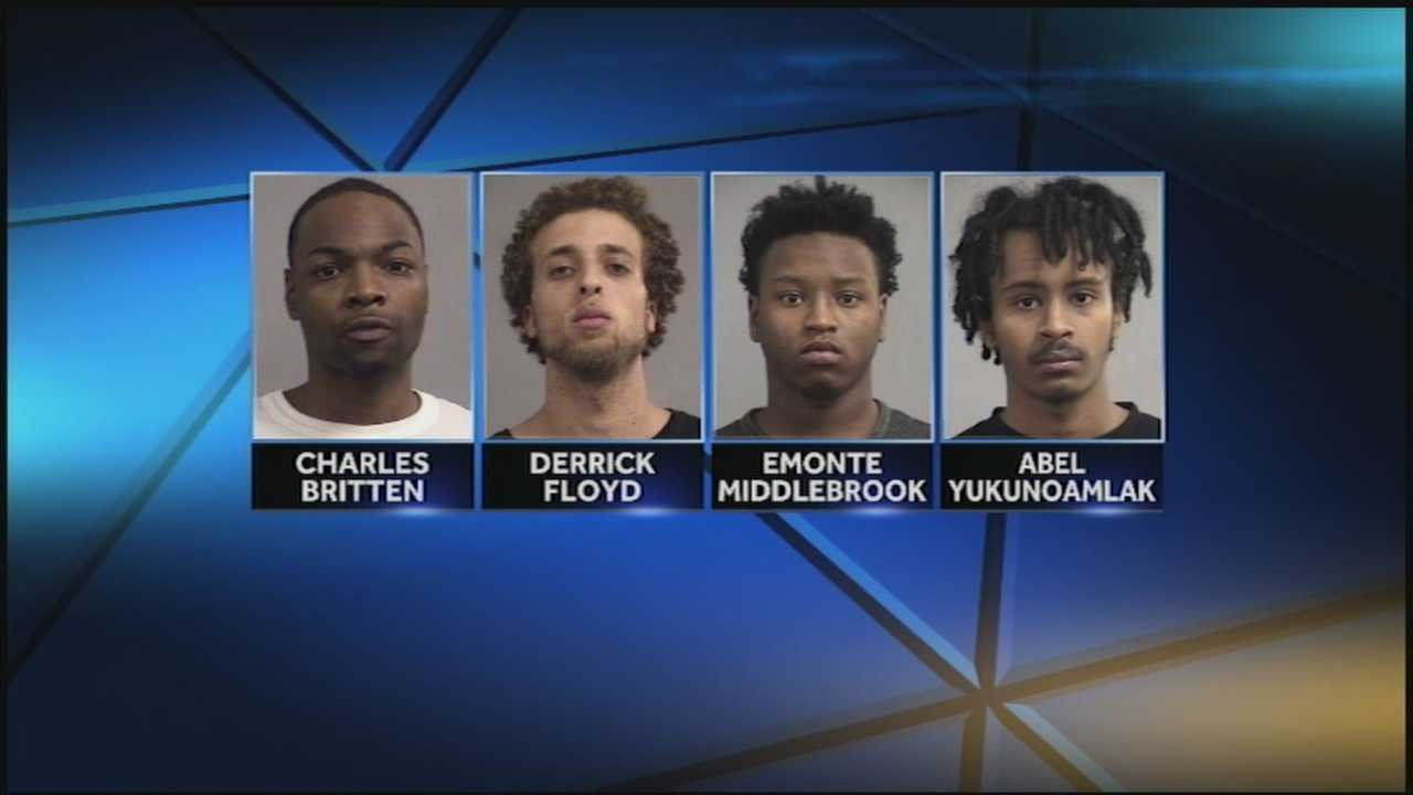 A shooting in east Louisville left one teenager recovering and four suspects facing charges.