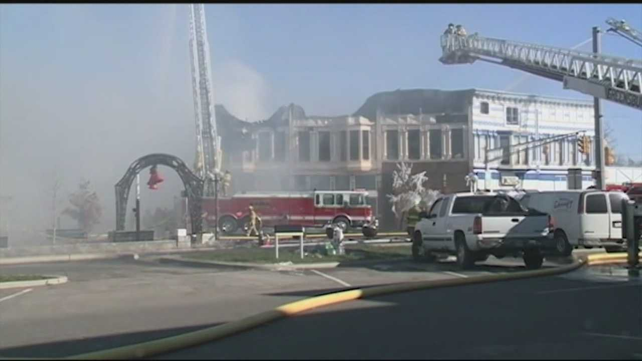 Days after a massive fire destroyed part of downtown North Vernon, residents are still picking up the pieces.