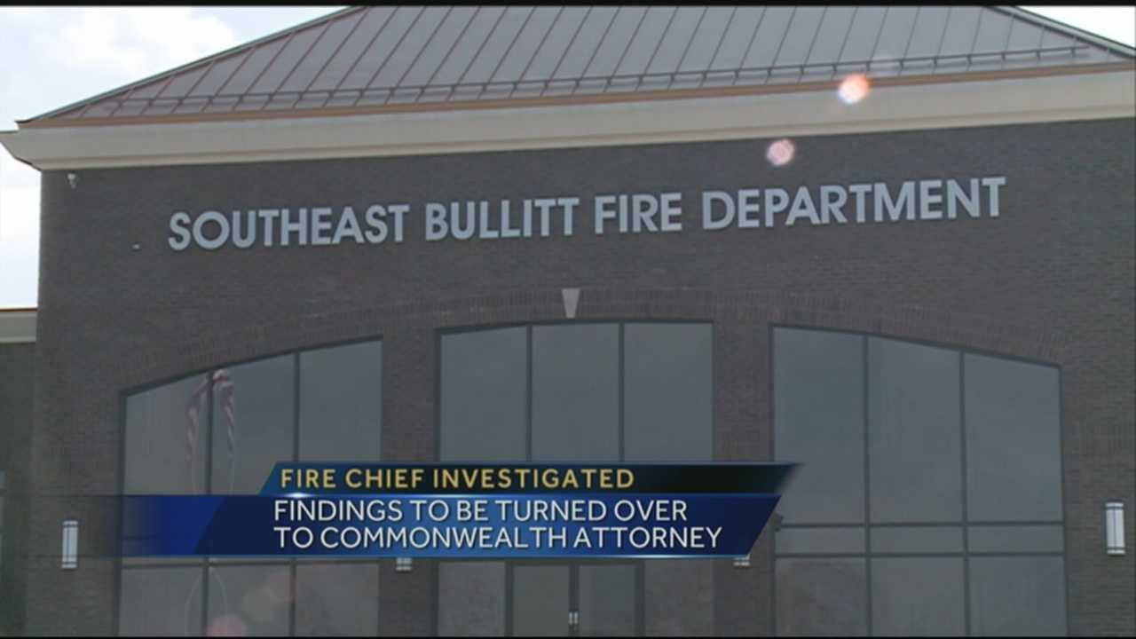 The Southeast Bullitt Fire chief is under investigation, accused of misusing taxpayer money.