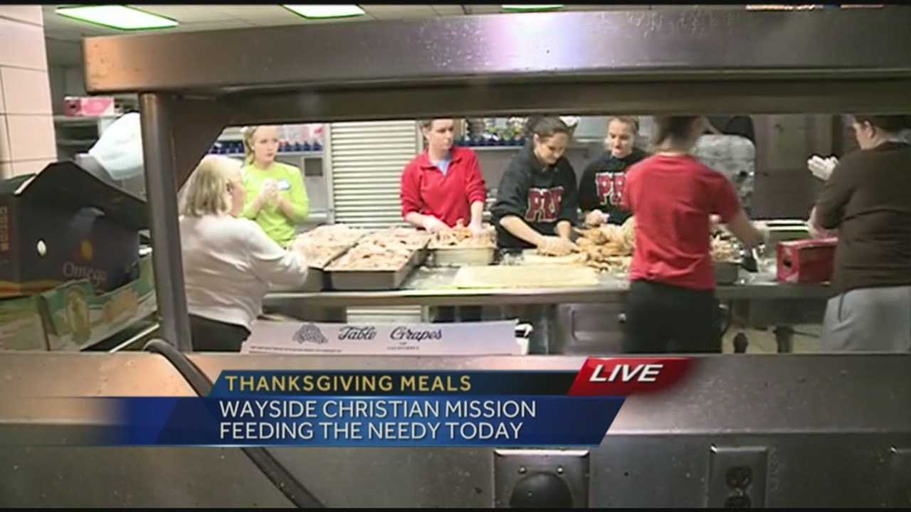 Wayside Christian Mission is working to feed the needy on Thanksgiving