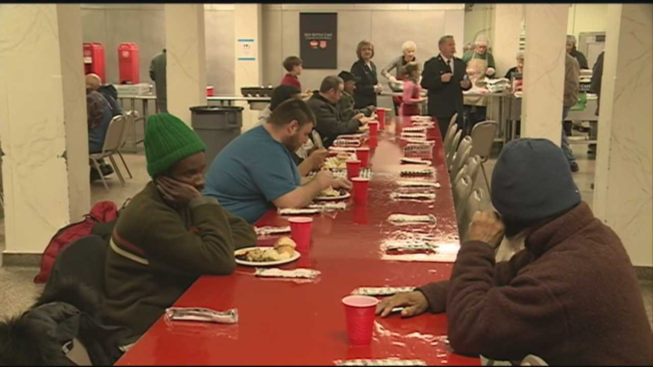Dozens of volunteers worked tirelessly to make Thanksgiving Day special for hundreds of people.