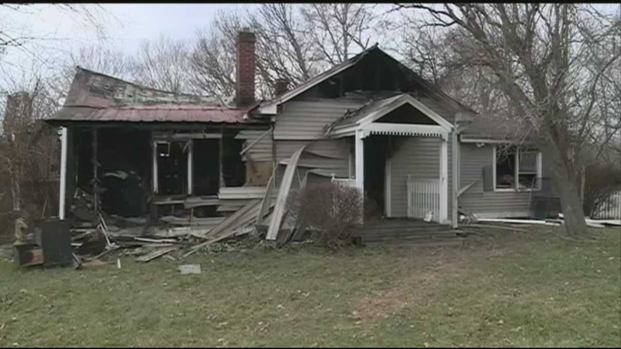 A man is injured, his house a total loss and seven of his eight pets are still missing after a fire in Pewee Valley.