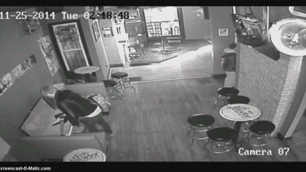Surveillance video and social media helped police track down a thief afer a man was caught on camera stealing a guitar from the Highlands Taproom.