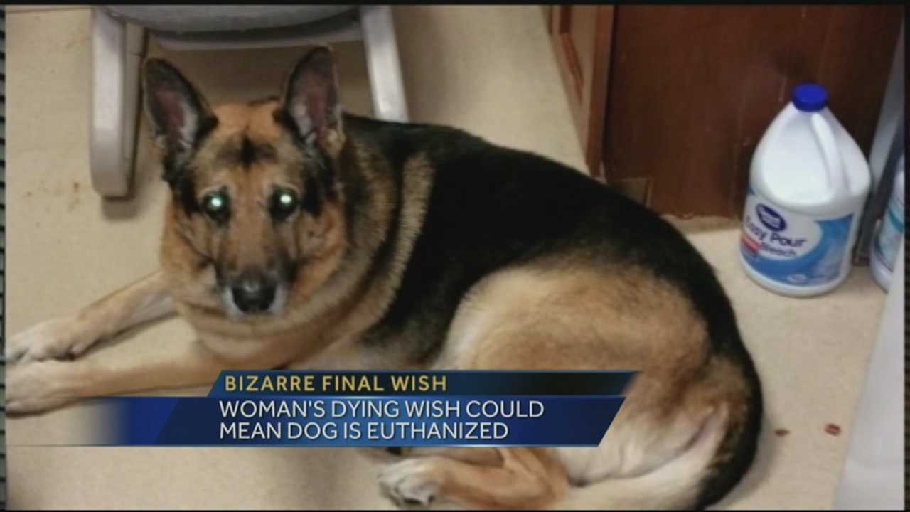 A dying Indiana woman's final wish is causing controversy among animal lovers.