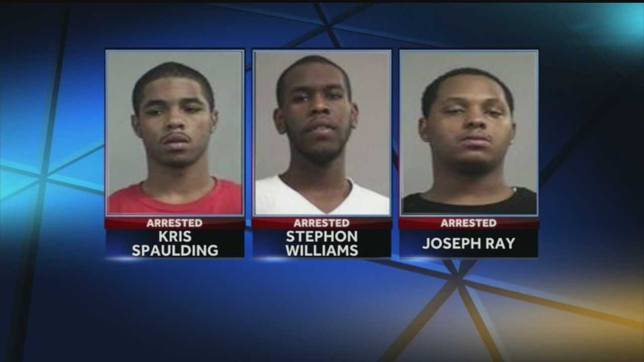 Police say three men brought drugs and ammunition onto campus before being chased and arrested.