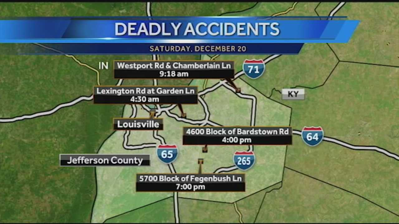 It was a deadly weekend on Louisville streets, with four fatalities in less than 24 hours.