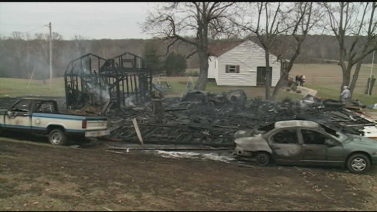 A Meade County man survived a powerful explosion as he was working in his garage.