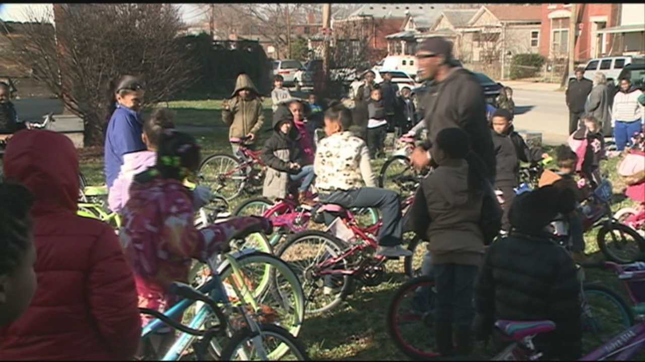 Kids affected by violent crime receive special gift from Master P