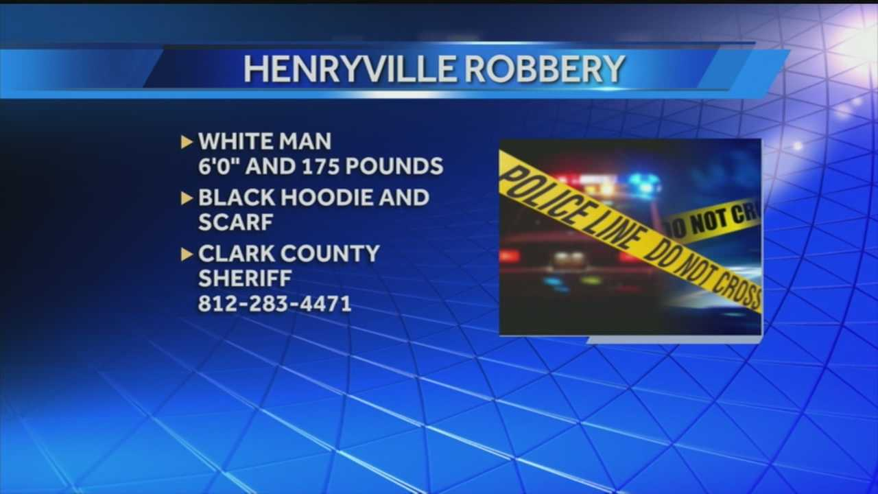 Authorities need the public's help finding the suspect responsible for a hold-up at a  popular Henryville restaurant.