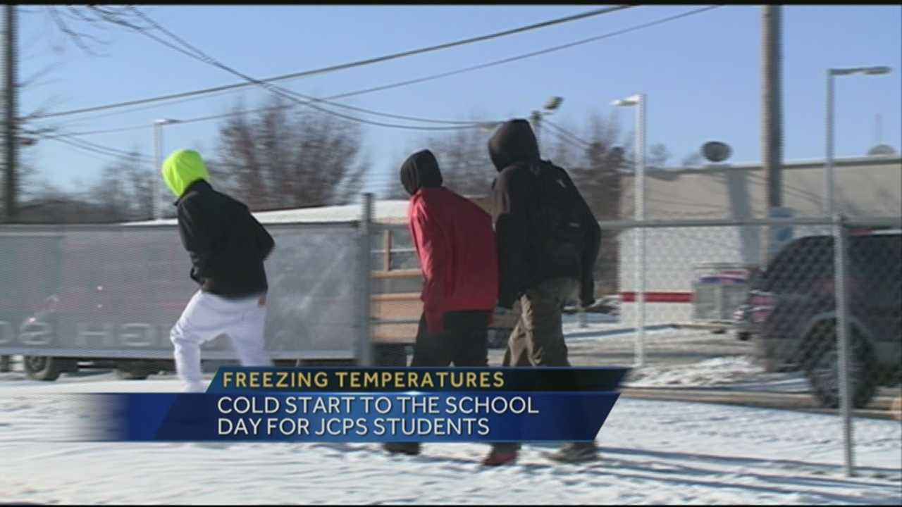 Some schools were on a delayed start due to cold weather Wednesday morning.