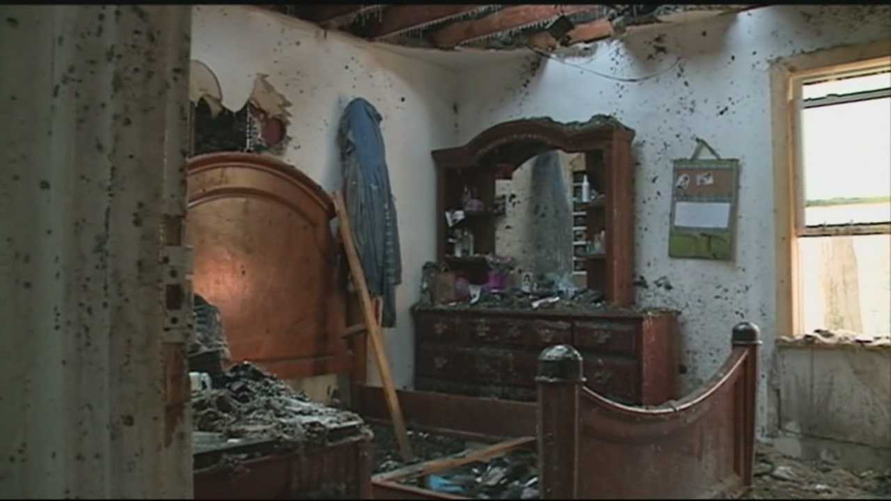Three people, including a pregnant woman, escaped an overnight house fire in far southwest Jefferson County.