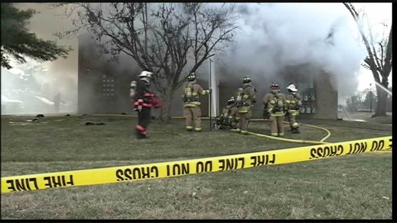 Four people were taken to Louisville area hospitals after a fire at the Wildwood Condominiums in the 7000 block of Wildwood Circle -- near Woodhaven Country Club.