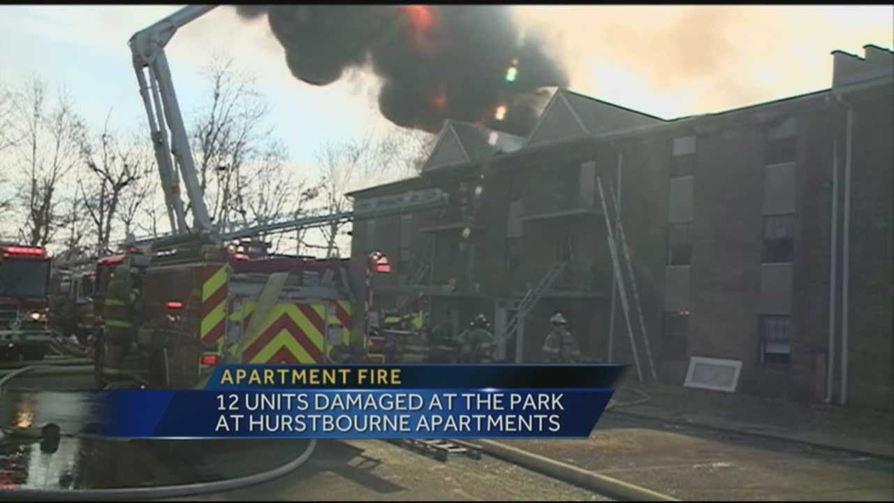 Dozens of firefighters responded to an apartment fire Wednesday afternoon.