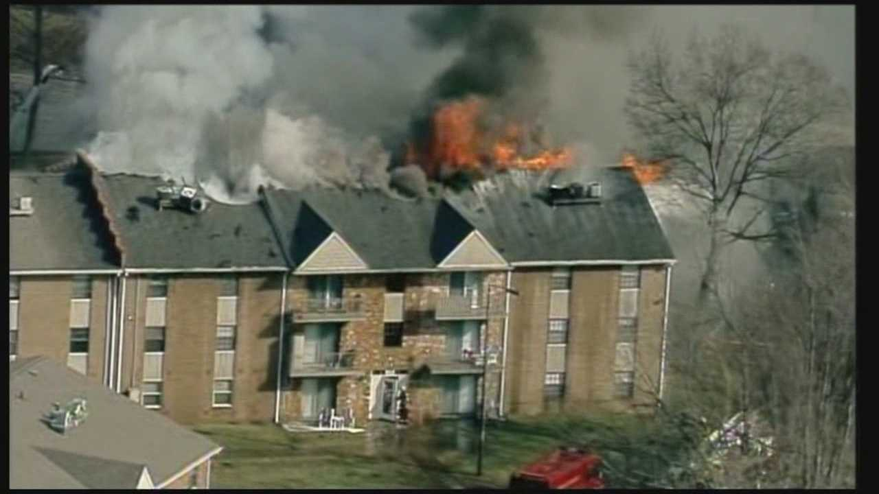 clean up underway after two apartment complexes catch fire